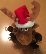 Prestige Toy Corp. Suction Cup Reindeer Plush with santa Hat from 1987