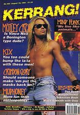 MOTLEY CRUE / KIX / MUDHONEY Kerrang no. 353 Aug 10 1991