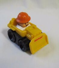 Fisher Price Little People WHEELIES CONSTRUCTION FRONT LOADER Vehicle w/ Man