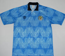 1989-1991 MANCHESTER CITY UMBRO HOME FOOTBALL SHIRT (SIZE M)