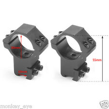 30mm Ring High Profile Scope Flashlight Mount for 11mm Dovetail Rail Hunting M33