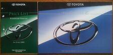 Toyota Carina E 1995 Folleto & Rare Gama lista de precios