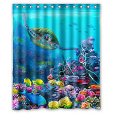 Brand New Sea Turtle Waterproof Shower Curtain 60x72 for Bathroom with 12 Holes