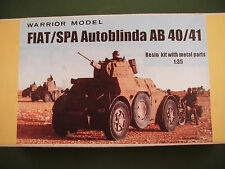 Warrior Model 1/35 Resin Kit Italian FIAT Spa Autoblinda AB 40/41 Armored Car