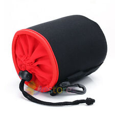 Black 97x120 mm Neoprene Soft Camera Lens Pouch Case Bag Protector M
