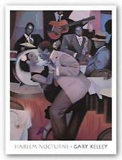 MUSIC ART PRINT Harlem Nocturne by Gary Kelley JAZZ