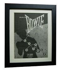 DAVID BOWIE+Let's Dance+POSTER+AD+RARE+ORIGINAL 1983+FRAMED+EXPRESS GLOBAL SHIP