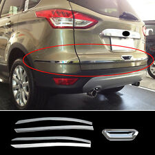 FITFOR 13-17 FORD ESCAPE KUGA CHROME REAR TRUNK LID BACK DOOR COVER TRIM MOLDING