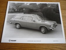 ORIGINAL TALBOT AVENGER ESTATE PRESS PHOTO jm