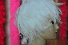 Hackle Feather Wig Raven Crow Swan Coque Halloween Costume Plum Wig-White(GA,USA