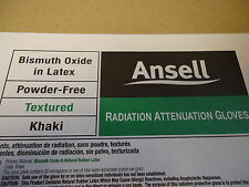 Box of 5 Ansell Radiation Attentuation Gloves Exp Date 11/2017 Size 8