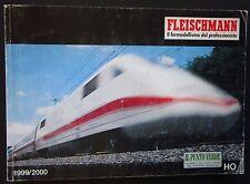 FLEISCHMANN catalogo H0 1999-2000 italiano 195 pagine fermodellismo trenini