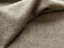 100% Pure New Wool Herringbone/Hopsack Weave Tweed Fabric 2.3 metre