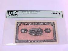 Guadeloupe- Banque de la Guadeloupe 100 Francs ND (1942) Remainder SCWPM# 23r