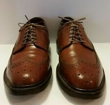 Bostonian Crown Windsor size 9.5 B AA brown vintage shoes leather men's wingtip