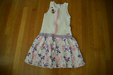 Rare Naartjie girls Pink lace tank dress size XXXL 9 Years Button Bubble