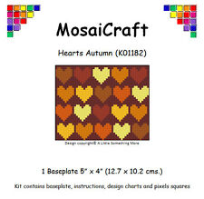 MosaiCraft Pixel Craft Mosaic Art Kit 'Hearts Autumn' (Like Paint by Numbers)