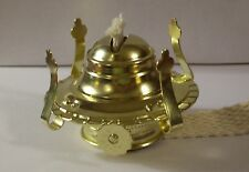 #1 BRASS PLATED OIL BURNER FOR #1 OIL LAMP NEW 54351J