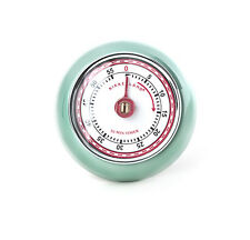 kikkerland RETRO 60 Minute Kitchen Timer Magnetic SEAFOAM KT046-SF wind up