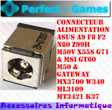 Connecteur alimentation power DC Jack connector Asus A9 F8 F2 N80 Z99H MSI GT60