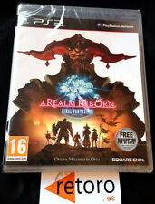 A REAL REBORN FINAL FANTASY XIV 14 PS3 PlayStation 3 PAL NUEVO Precintado Square