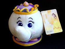 "DISNEY Store PLUSH Beauty and the Beast 2016 MRS POTTS Teapot SMALL 7 1/2"" NWT"