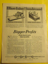 General Office Equipment Corporation Single Page 1928 Advertisement Great Illus!