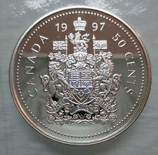 1997 CANADA 50 CENTS PROOF SILVER HALF DOLLAR COIN -  A