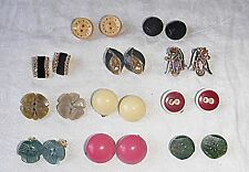 VINTAGE SUPERIOR COLLECTION OF 11 CLIP EARINGS AS SHOWN IN PHOTOGRAPH