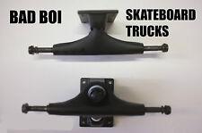 """BAD Boi Coppia di vuoto Skateboard Camion Nero Skate CRUISER Longboard 5.0"""""""