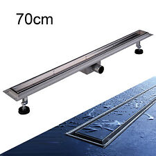 New Stainless Steel Floor Shower Linear Drain Wetroom Bathroom Channel Tile 70cm