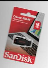 SanDisk 16GB Cruzer Blade USB Flash Drive. Easy, reliable storage solution. (1p)
