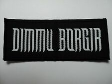 DIMMU BORGIR WHITE LOGO WOVEN PATCH