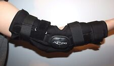 """Donjoy Elbow or Knee Brace Standard Black Excellent Jointed 15"""" Straps Padded"""