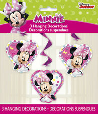 MINNIE MOUSE Bow-Toons HANGING DECORATIONS (3) ~ Birthday Party Supplies Cutout