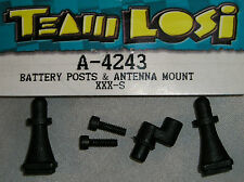 TEAM LOSI R/C MODEL CAR PARTS NEW A-4243 BATTERY POSTS & ANTENNA MOUNT XXX-S