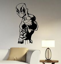 Deadpool Wall Decal Vinyl Sticker Comics Superhero Art Home Kids Room Decor dpl1