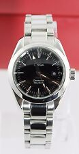 GENUINE OMEGA SEAMASTER AQUA TERRA 2577.50 SWISS QUARTZ LADIES BLACK STEEL WATCH