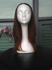 Ash Blond European Human Hair Fall/Half Wig