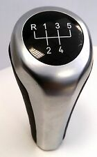 BMW E60 E61 E63 E85 E90 E91 E92 GEAR SHIFT KNOB 5 SPEED SILVER