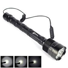 Trustfire 3T6 6000LM 3X XM-L T6 LED Flashlight Hunting Torch + Pressure Switch