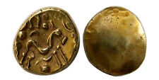PCW-G4933-CELTIC, Gaul. Ambiana. 60-55 BC. Gold Stater.  Gaulic war type.
