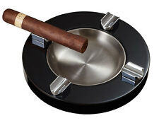 Visol Noche Lacquer Wooden Cigar Ashtray, Four Cigar Rests, VASH-722, New in Box