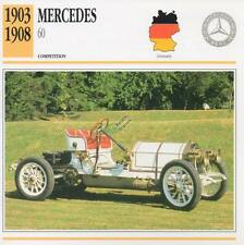 1903-1908 MERCEDES 60 Racing Classic Car Photo/Info Maxi Card