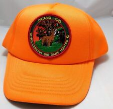 BIG GAME HUNTING snapback hat cap adjustable ontario 2003 orange successful deer