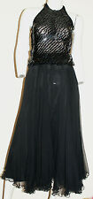 "Melinda designer pure silk black full circle skirt. Size S (27.5"" waist)"