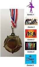 Gold Dance Metal Medal + FREE P&P With Ribbons