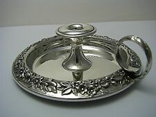 STERLING SILVER CHAMBER CANDLESTICK CANDLE HOLDER by Kirk & Son Post-1950 Rare!