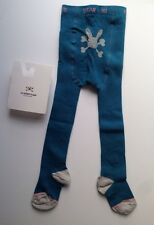 No Added Sugar Ribbed Petrol Blue Teal Baby Tights Size 18-24 Months BNWT