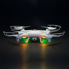 2.4G 4-Ch HD 4 Axles Quad Copter 360 Degree for FPV RC K5C with Camera White